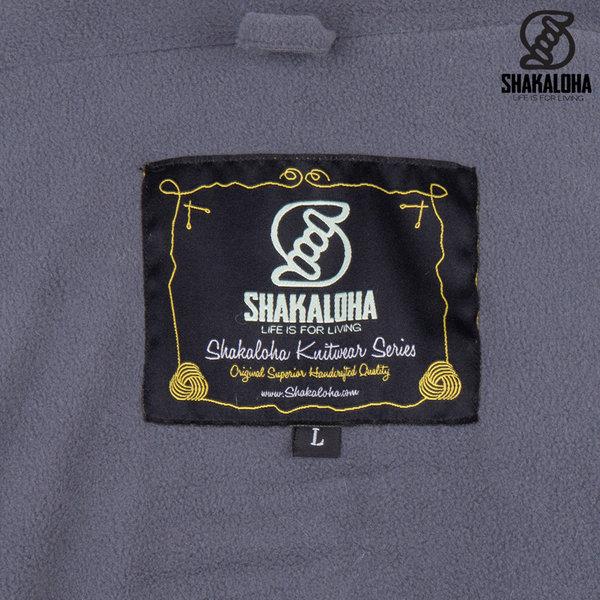 Shakaloha Shakaloha Gebreid Wollen Vest Buster ZH  met Fleece Voering en Afneembare Capuchon - Man/Uni - Handgemaakt in Nepal van Schapenwol