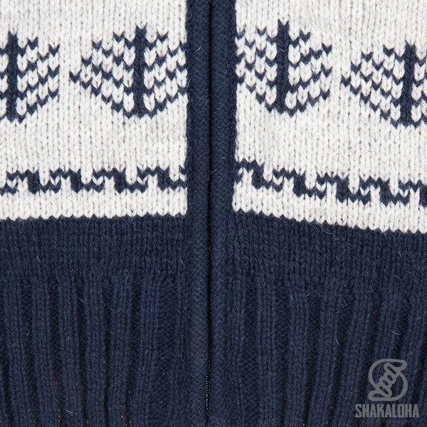 Shakaloha Shakaloha Gebreid Wollen Vest Pine  met Katoenen Voering en Afneembare Capuchon - Man/Uni - Handgemaakt in Nepal van Schapenwol