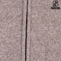 Shakaloha Shakaloha Gebreid Wollen Vest Crawford ZH Licht Bruin Taupe met Katoenen Voering en Afneembare Capuchon - Dames - Handgemaakt in Nepal van Schapenwol