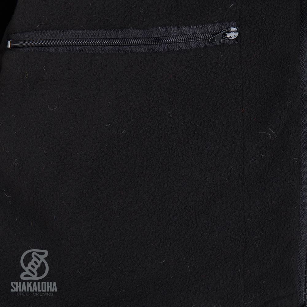 Shakaloha Shakaloha Gebreid Wollen Vest Crawford ZH Antraciet met Katoenen Voering en Afneembare Capuchon - Dames - Handgemaakt in Nepal van Schapenwol