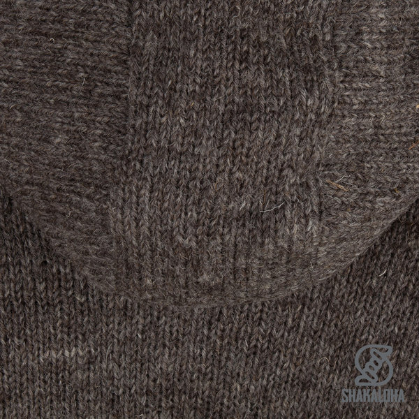 Shakaloha Shakaloha Wolljacke - Strickjacke Zinnia Hellbraune Taupe mit Fleece-Futter und Kapuze - Damen - Handgemacht in Nepal aus Schafwolle