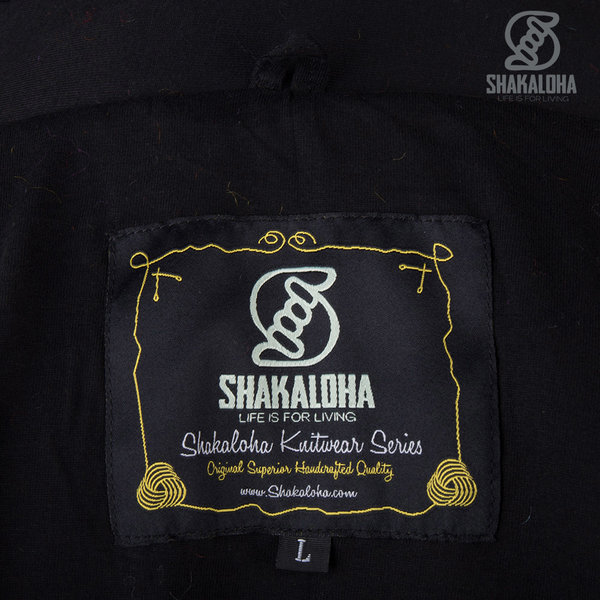 Shakaloha Shakaloha Gebreid Wollen Vest Noosa ZH  met Katoenen Voering en Afneembare Capuchon - Dames - Handgemaakt in Nepal van Schapenwol