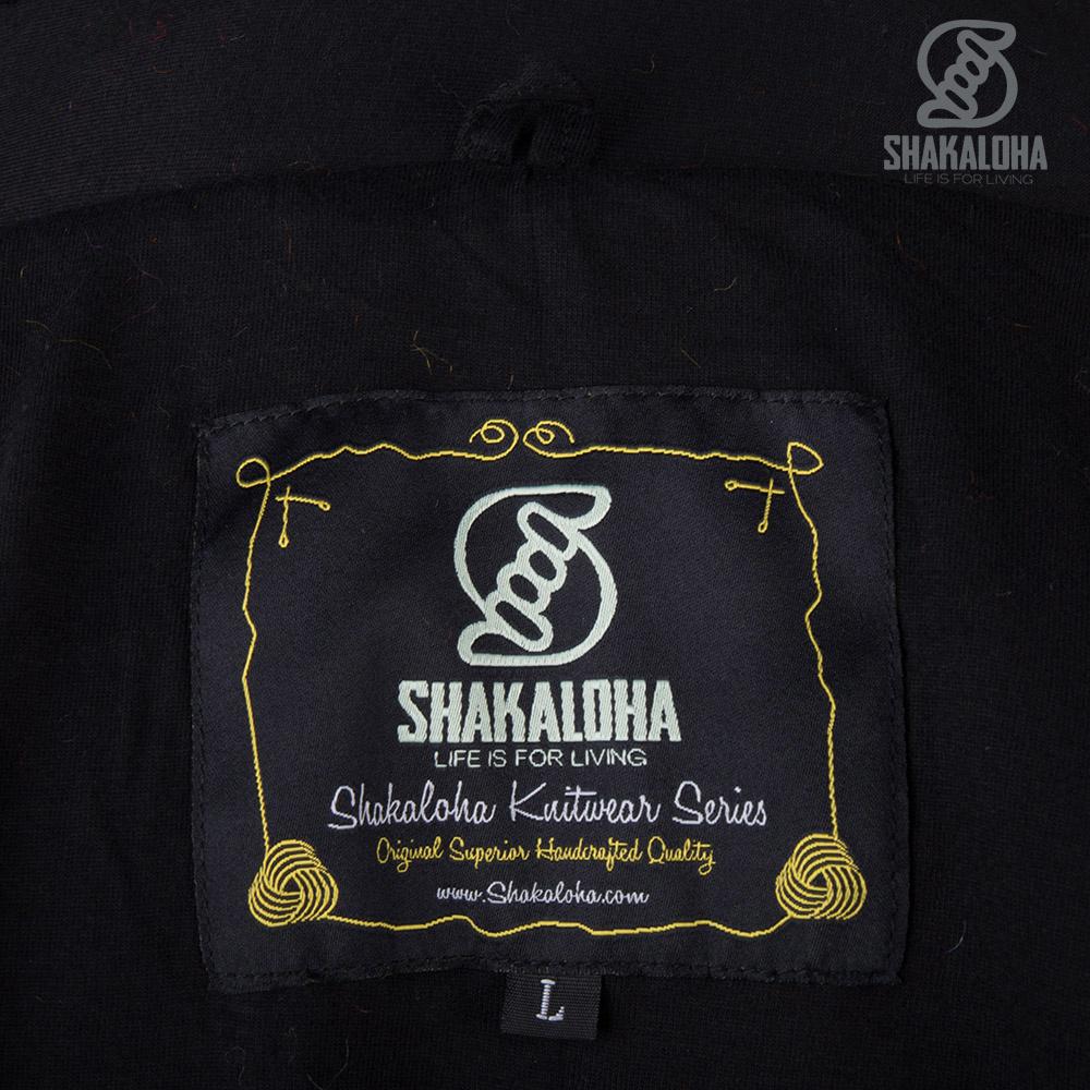 Shakaloha Shakaloha Wolljacke - Strickjacke Noosa ZH Regenbogenfarben mit Baumwollfutter und Abnehmbarer Kapuze - Damen - Handgemacht in Nepal aus Schafwolle