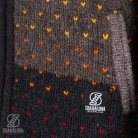 Shakaloha Shakaloha Wolljacke - Strickjacke Riddle ZH Natürliche Farben mit Fleece-Futter und Abnehmbarer Kapuze - Damen - Handgemacht in Nepal aus Schafwolle