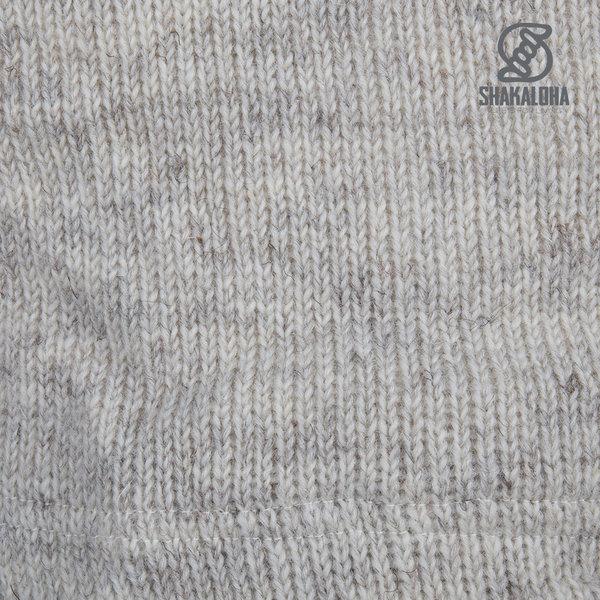 Shakaloha Shakaloha Wollen Vest Zinnia Beige met Fleece Voering en Capuchon - Dames
