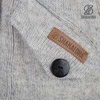 Shakaloha Shakaloha Knitted Woolen Jacket Zinnia  with Fleece Lining and Hood - Woman - Handmade in Nepal from sheep's wool