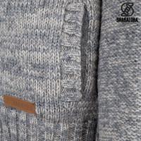 Shakaloha Shakaloha Knitted Woolen Jacket Chamonix  with Teddy Lining and Hood - Men - Unisex - Handmade in Nepal from sheep's wool