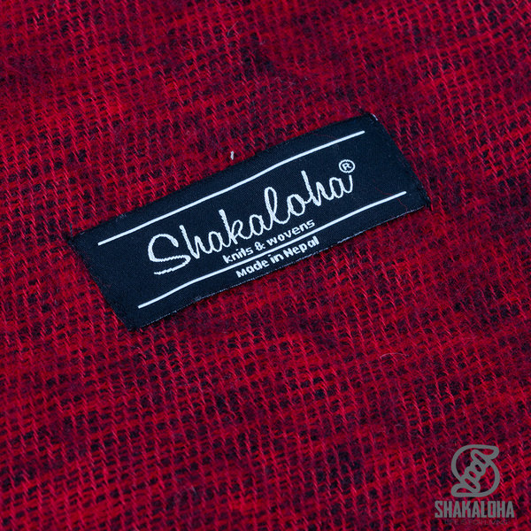 Shakaloha Canoe Shawl Red