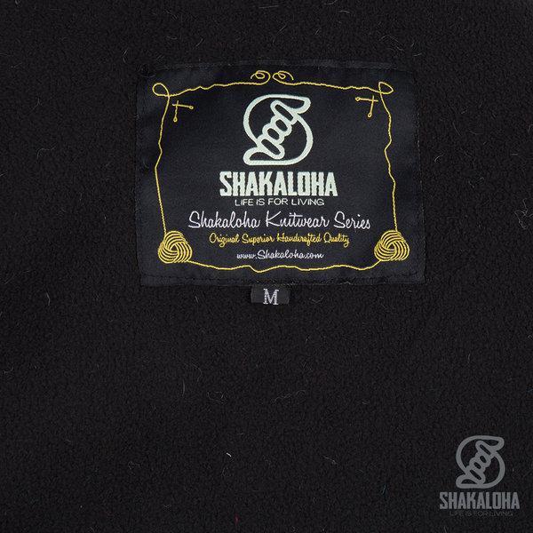 Shakaloha Shakaloha Wolljacke - Strickjacke Patch ZH Verblasste Mehrfarben mit Fleece-Futter und Abnehmbarer Kapuze - Damen - Handgemacht in Nepal aus Schafwolle