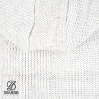 Shakaloha Shakaloha Wolljacke - Strickjacke Blaster ZH Beige Creme mit Fleece-Futter und Abnehmbarer Kapuze - Herren - Uni - Handgemacht in Nepal aus Schafwolle