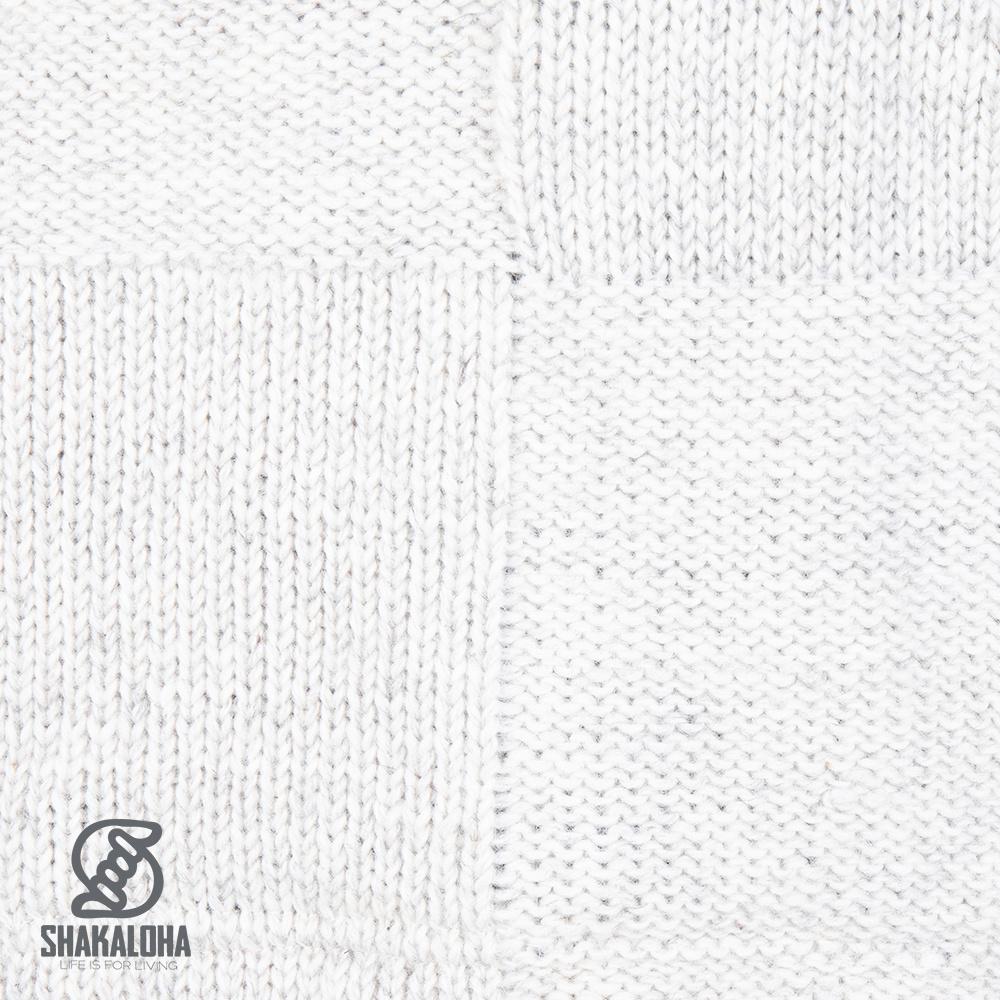 Shakaloha Shakaloha Gebreid Wollen Vest Blaster ZH Beige Crème met Fleece Voering en Afneembare Capuchon - Man/Uni - Handgemaakt in Nepal van Schapenwol