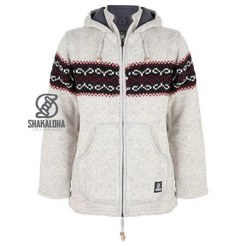 Shakaloha Flaka Hood Gray Woolen Vest Gray with hood