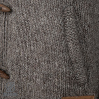 Shakaloha Shakaloha Veste en Laine Tricoté Woodcord DLX Taupe marron clair avec Doublure en polaire et Capuche détachable - Femmes - Fabriqué à la main au Népal en laine de mouton