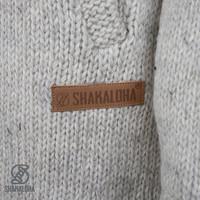Shakaloha Shakaloha Veste en Laine Tricoté Woodcord DLX Crème beige avec Doublure en polaire et Capuche détachable - Femmes - Fabriqué à la main au Népal en laine de mouton