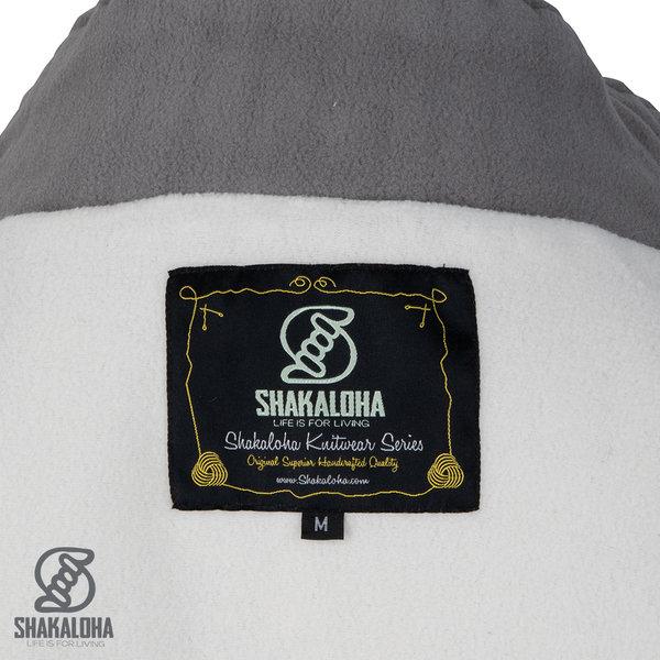 Shakaloha Shakaloha Wolljacke - Strickjacke Woodcord DLX Beige Creme mit Fleece-Futter und Abnehmbarer Kapuze - Damen - Handgemacht in Nepal aus Schafwolle
