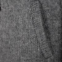 Shakaloha Shakaloha Knitted Woolen Jacket Woodcord DLX  with Fleece Lining and Detachable Hood - Woman - Handmade in Nepal from sheep's wool