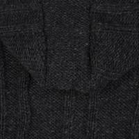 Shakaloha Shakaloha Knitted Woolen Jacket Plata ZH Anthracite with Fleece Lining and Detachable Hood - Men - Unisex - Handmade in Nepal from sheep's wool