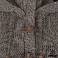 Shakaloha Shakaloha Knitted Woolen Jacket Whistler DLX  with Fleece Lining and Detachable Hood - Woman - Handmade in Nepal from sheep's wool