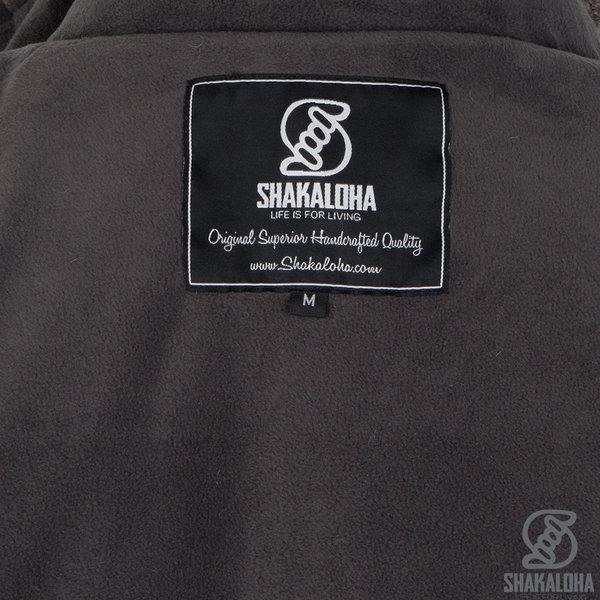Shakaloha Shakaloha Veste en Laine Tricoté Whistler DLX Taupe marron clair avec Doublure en polaire et Capuche détachable - Femmes - Fabriqué à la main au Népal en laine de mouton