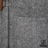 Shakaloha Shakaloha Veste en Laine Tricoté Whistler DLX gris avec Doublure en polaire et Capuche détachable - Femmes - Fabriqué à la main au Népal en laine de mouton