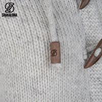 Shakaloha Shakaloha Gebreid Wollen Vest Whistler DLX  met Fleece Voering en Afneembare Capuchon - Dames - Handgemaakt in Nepal van Schapenwol