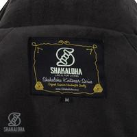 Shakaloha Shakaloha Veste en Laine Tricoté Gin Ziphood Taupe marron clair avec Doublure en polaire et Capuche détachable - Femmes - Fabriqué à la main au Népal en laine de mouton