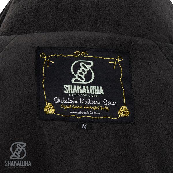 Shakaloha Shakaloha Wolljacke - Strickjacke Gin Ziphood Hellbraune Taupe mit Fleece-Futter und Abnehmbarer Kapuze - Damen - Handgemacht in Nepal aus Schafwolle