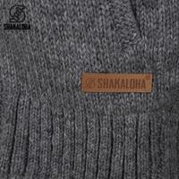 Shakaloha Shakaloha Veste en Laine Tricoté Gin Ziphood gris avec Doublure en polaire et Capuche détachable - Femmes - Fabriqué à la main au Népal en laine de mouton
