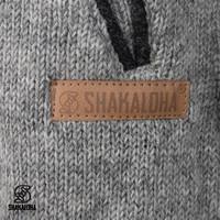 Shakaloha Shakaloha Veste en Laine Tricoté Nevada gris avec Doublure en polaire et Capuche - Femmes - Fabriqué à la main au Népal en laine de mouton