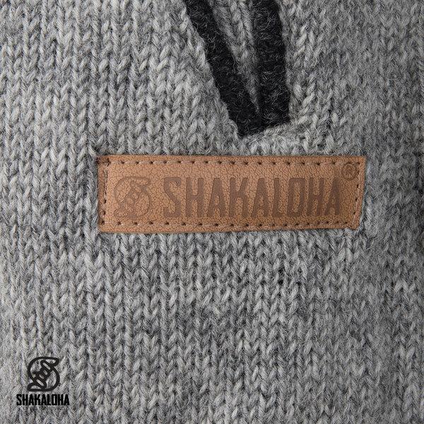 Shakaloha Shakaloha Gebreid Wollen Vest Nevada  met Fleece Voering en Capuchon - Dames - Handgemaakt in Nepal van Schapenwol