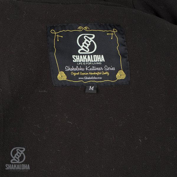 Shakaloha Shakaloha Knitted Woolen Jacket Nevada  with Fleece Lining and Hood - Woman - Handmade in Nepal from sheep's wool