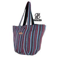 Shakaloha Gestreifte große Strandtasche Heach Bag Blau