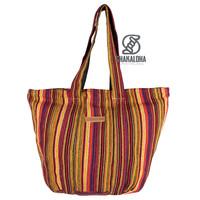 Shakaloha Strandtasche Heach Bag Strandtasche Gelb gestreift