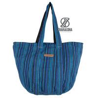 Shakaloha Beach Bag Heach Bag Blauw Gestreept