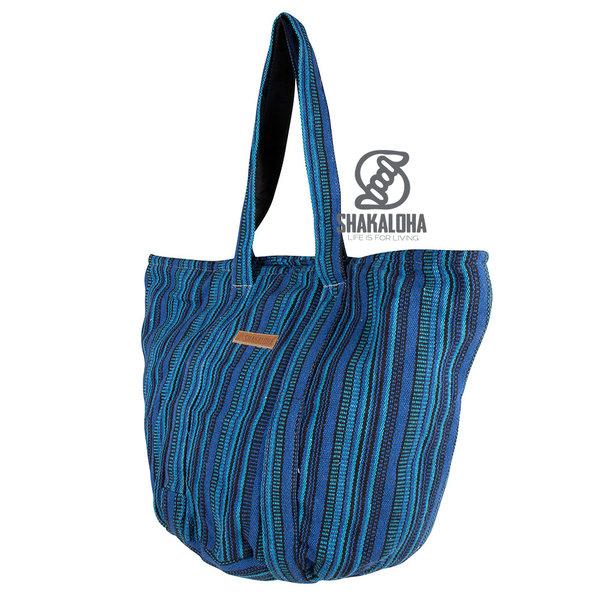 Shakaloha Strandtasche Heach Bag Blau gestreift