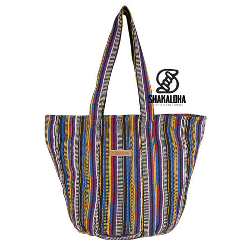 Shakaloha Strand Tas Heach Bag Paars Geel