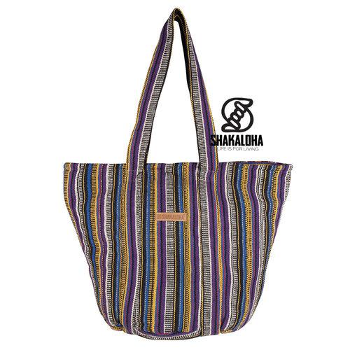 Shakaloha Strandtasche Heach Bag Lila Gelb