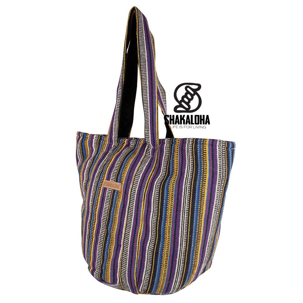 Shakaloha Strandtasche Heach Vertical Stripes Pair Gelb Blau