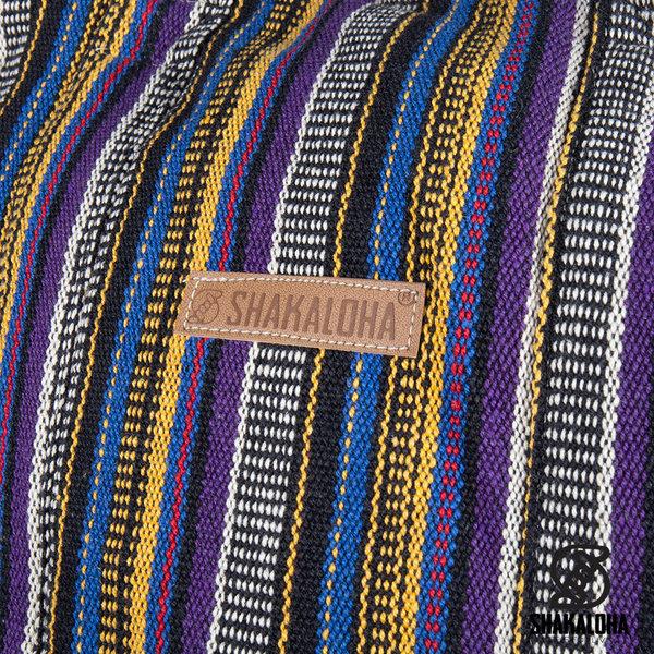 Shakaloha Beach Bag Heach Vertical Stripes Pair Yellow Blue