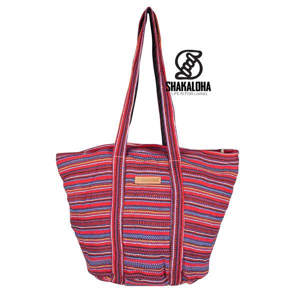 Shakaloha Beach Bag Heah rood gestreepd