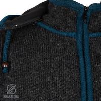 Shakaloha Shakaloha Strickwolle Strickjacke Luxor ZH mit Fleecefutter und abnehmbarer Kapuze - Man / Uni - Handgefertigt in Nepal aus Schafwolle