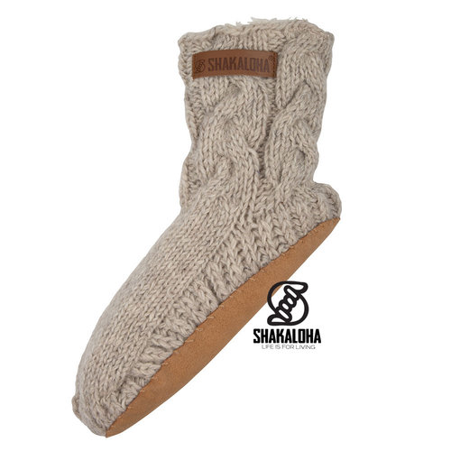 Shakaloha Soled Saturday Socks Beige