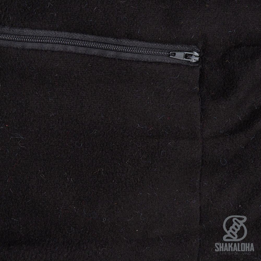 Shakaloha Shakaloha Wolljacke - Strickjacke Scoop ZH Hellblaues Anthrazit mit Fleece-Futter und Abnehmbarer Kapuze - Herren - Uni - Handgemacht in Nepal aus Schafwolle