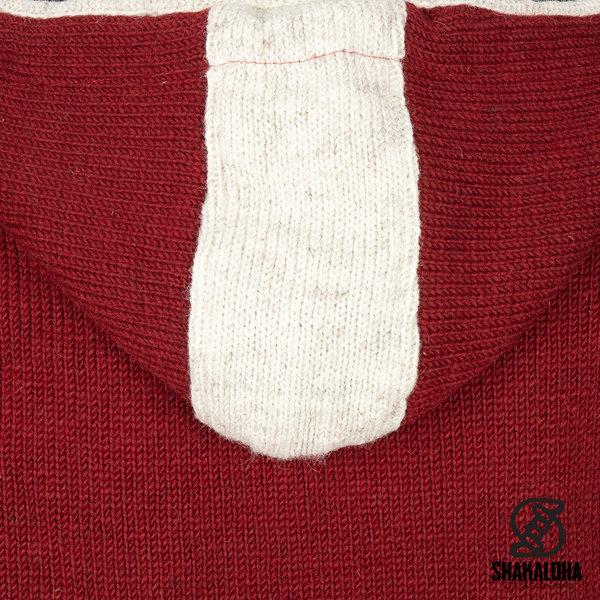 Shakaloha Shakaloha Gebreid Wollen Vest Scoop ZH  met Fleece Voering en Afneembare Capuchon - Dames - Handgemaakt in Nepal van Schapenwol