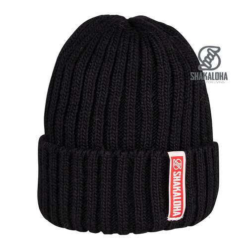 Shakaloha Bottle Beanie Mrn Black