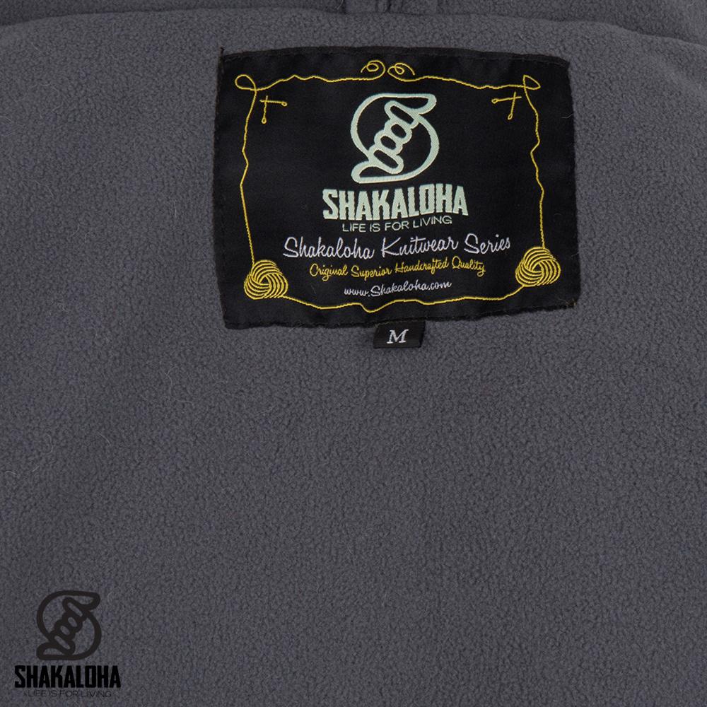 Shakaloha Cardigan en laine tricotée Shakaloha Talbot ZH Beige Marron clair avec doublure polaire et capuche amovible - Homme / Uni - Fait à la main au Népal à partir de laine de mouton