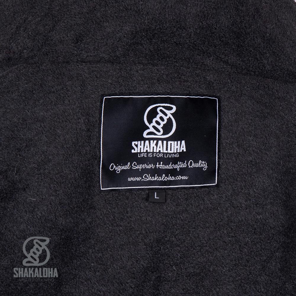 Shakaloha Camo Patroon Gebreid Wollen vest Heren M Endeavor ZH Grijs