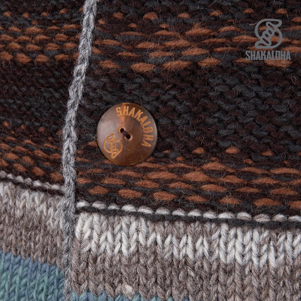 Shakaloha Veste de costume homme M Esquire LBrown Wool