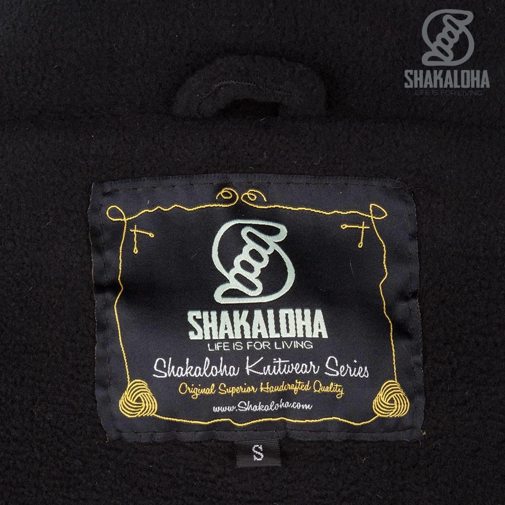 Shakaloha Shakaloha Gebreid Wollen Vest Jigsaw ZH Grijs met Fleece Voering en Afneembare Capuchon - Dames - Handgemaakt in Nepal van Schapenwol
