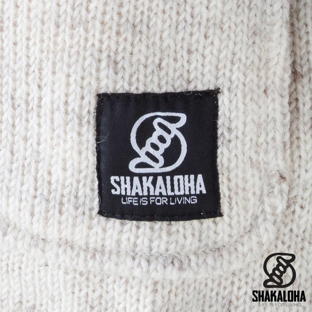 Shakaloha Shakaloha Gebreid Wollen Vest Cody Beige Crème met Fleece Voering en Afneembare Capuchon - Dames - Handgemaakt in Nepal van Schapenwol